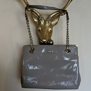 Kate Spade patent grey shoulder bag.